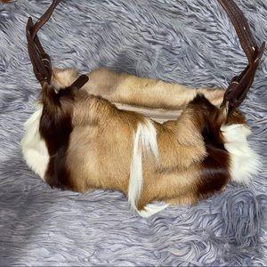 Aqua Madonna South African Springbok Fur Bag